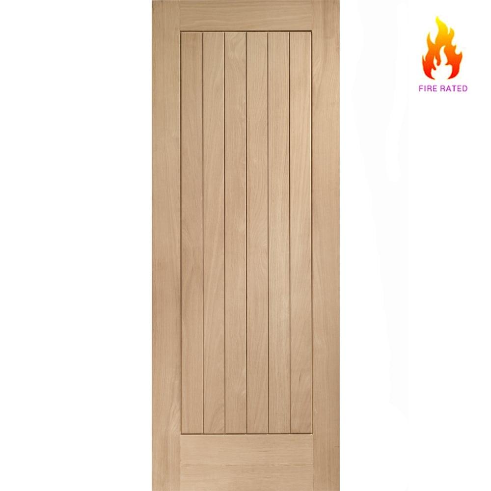 XL Joinery Internal Oak Suffolk Vertical Grooved Flush Fire Door FD30 762mm