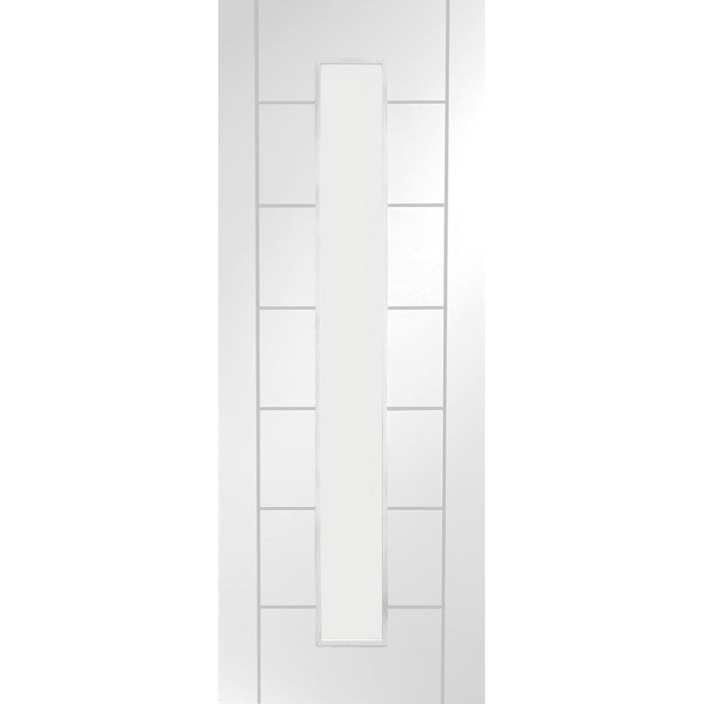 XL Joinery Internal White Primed Palermo 1L Clear Glazed Fire Door FD30