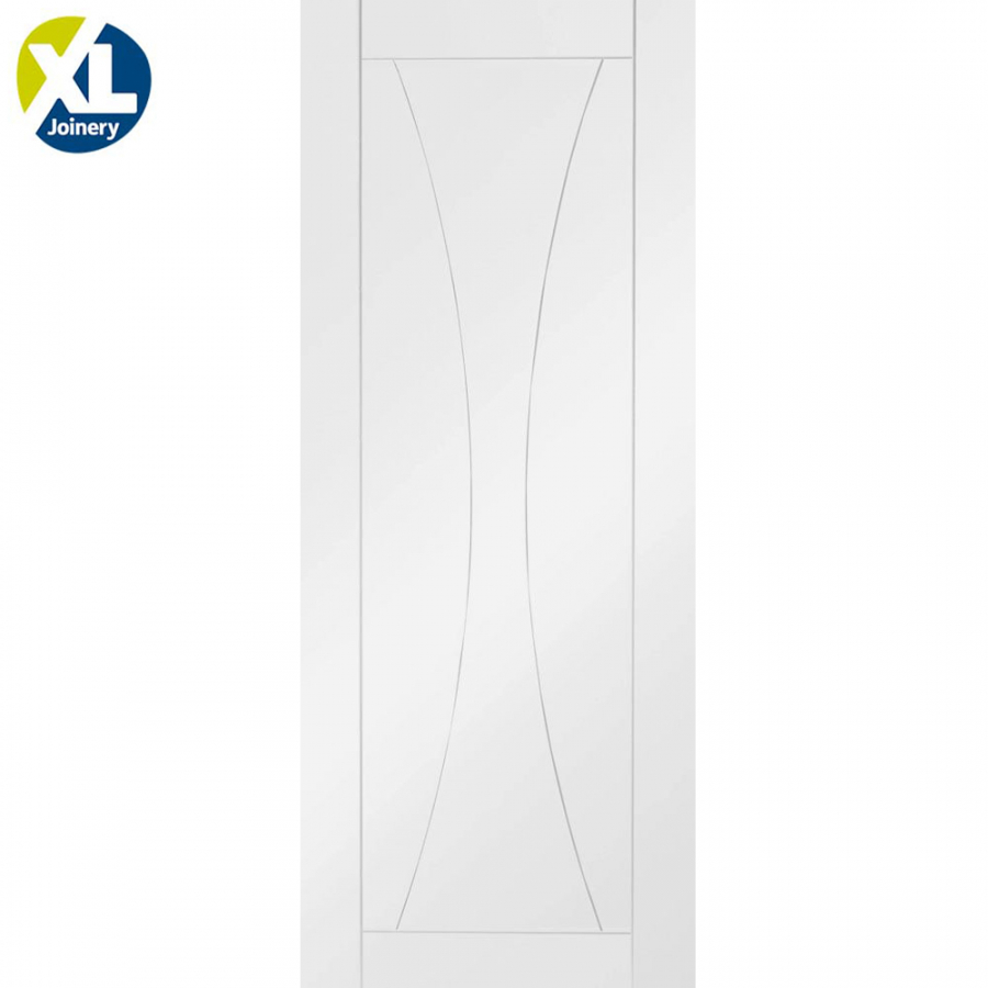 Internal White Primed Verona Contemporary Grooved Flush Door