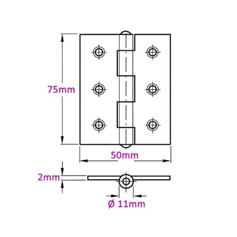 zoo-hardware-pair-of-ball-bearing-steel-butt-door-hinges-3-x-2-2mm-thick-diagram