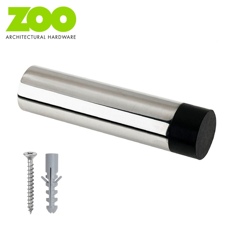 Projecting Wall Mounted Door Stop Stainless Steel