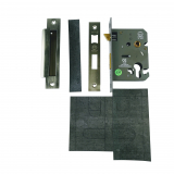 76mm Euro Profile Stainless Steel Sash Lock with Pre-cut Self-Adhesive Intumescent Pad