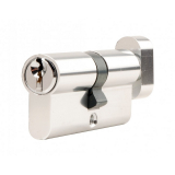 Excel Aluminium Euro Contract Cylinder Lock with Thumb Turn T35/35