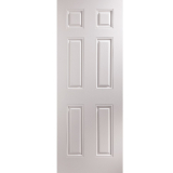 JELD-WEN Arlington White Primed 6 Panelled Interior Door