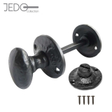 Jedo Black Antique Bathroom Door Turn & Release Set