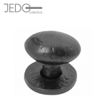 Jedo Black Iron Oval Cupboard Door or Drawer Knob