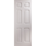 JELD-WEN Bostonian 6 Panel Fully Finished Middleweight Interior Door