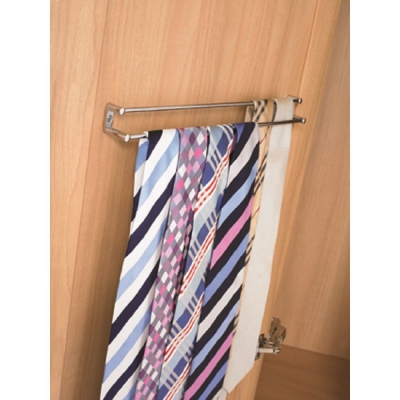 Chrome Tie and Belt Rack