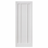JB Kind Internal White Primed JAMAICA Contemporary 3 Panel Fire Door FD30