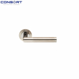 Consort Engraved Mitred Lever Handle - 8mm Sprung Duo Finish