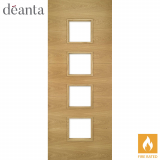 Deanta Internal Oak Augusta Glazed Fire Door