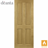 Deanta Internal Oak Bury Panelled Fire Door