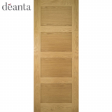 Deanta Internal Oak Coventry Panelled Unfinished Door