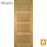 Deanta Internal Oak Coventry Panelled Unfinished Fire Door