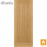 Deanta Internal Oak Ely Flush Pre-Finished Fire Door
