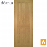 Deanta Internal Oak Eton Panelled Fire Door