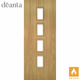 Deanta Internal Oak Galway Glazed Fire Door
