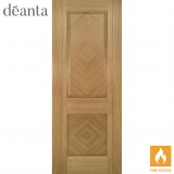 Deanta Internal Oak Kensington Panelled Fire Door