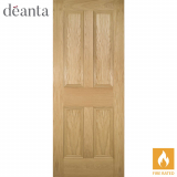 Deanta Internal Oak Kingston Panelled Fire Door