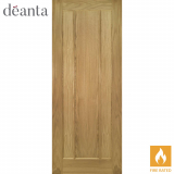 Deanta Internal Oak Norwich Panelled Fire Door