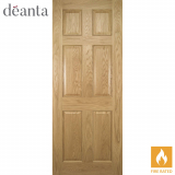 Deanta Internal Oak Oxford Panelled Fire Door