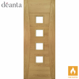 Deanta Internal Oak Pamplona Unglazed Fire Door