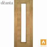 Deanta Internal Oak Seville 1 Light Glazed Fire Door