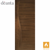 Deanta Internal Walnut Cadiz Flush Fire Door