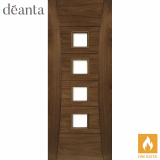 Deanta Internal Walnut Pamplona Unglazed Fire Door