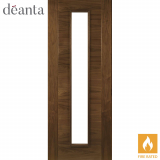 Deanta Internal Walnut Seville Glazed Fire Door