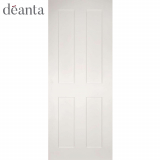 Deanta Internal White Primed Eton Panelled Door