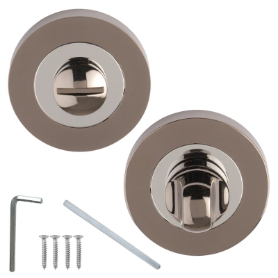 Excel Designer ARGO/ULTIMO Dual Black Chrome Bathroom Thumbturn & Release Set