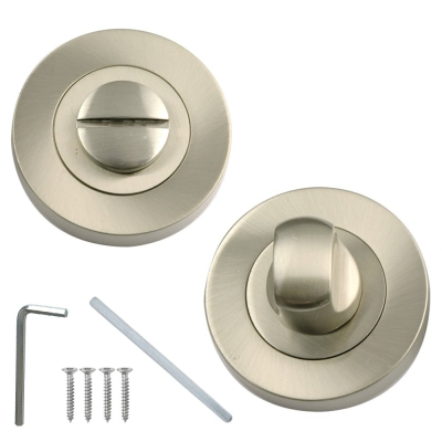 Excel Designer ASTRO ASTRAL Bathroom Thumb Turn and Release Set in Satin Nickel