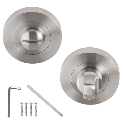 Excel Designer FLEX / VENUS / LINEA / AZTEC Satin Chrome Bathroom Door Thumbturn & Release Set