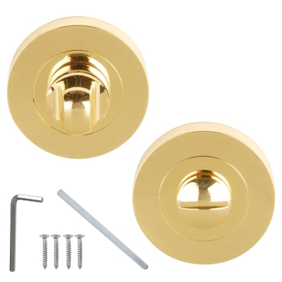 Excel Designer FLEX / VENUS Polished Electro Brass Bathroom Door Thumbturn & Release Set