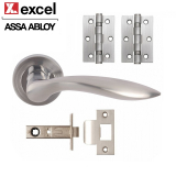 Designer OPEN Door Handle Pack Lever on Rose