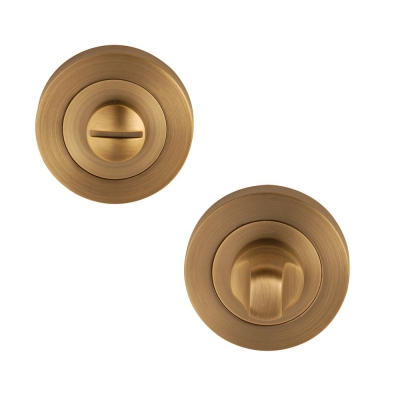 Excel Designer FLEX Bathroom Door Thumb Turn and Release Set in Antique Brass
