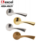 Designer FLEX Lever on Rose Internal Door Handle Pair