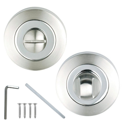 Excel Designer Dual Chrome Bathroom Door Thumbturn & Release Set