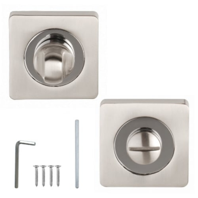 Excel Designer ULTIMO / CHRONOS / ARGO Dual Chrome Square Bathroom Thumbturn & Release Set