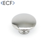 MUSHROOM Cupboard Door Drawer Knob in Polished Chrome
