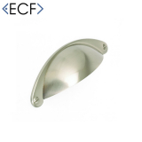SHAKER Brushed Nickel Cupboard Door and Drawer Cup Handle with Faux Screws