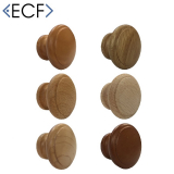 Wooden Round Cupboard Door and Drawer Pull Knob