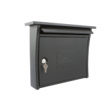 Sterling Black Elite Post Box