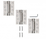 Excel 3 x Adjustable Single Action Self Closing Fire Door Hinges (2.5mm Thick)