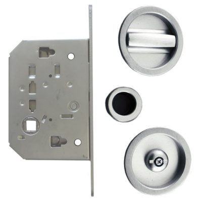 Excel Sliding Door Lock Set with Flush Edge Pull Handle