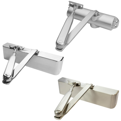 Hydraulic Fire Rated Door Closer Size 2-4 Polished Satin Silver