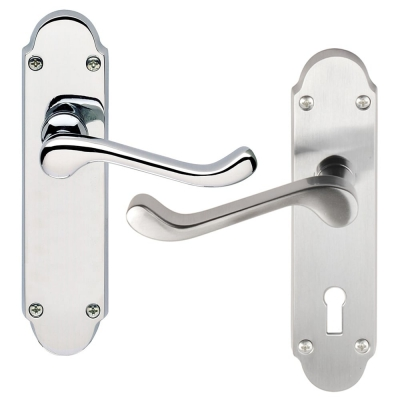 Excel OSPREY Chrome Lever on Plate Internal Door Handle Pair