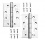Excel Pair of Grade 7 Fire Rated Washered Door Hinges (2mm Thick)