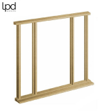 External Door Frame Oak Vestibule Universal Sidelight Kit